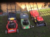 PETROL LAWN MOWERS ( job lot )