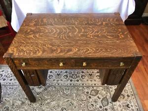Antique oak mission library desk