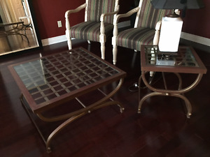 Brushed Metal Coffee & End Table