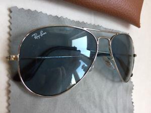 Men's Ray Ban sunglasses blue & silver