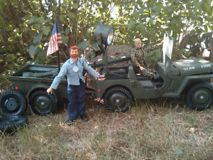 Authentic Original 1960's GI JOES with Jeep