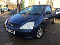 ✿03-reg Honda Civic 1.4i Imagine 3dr ✿CHEAP CAR✿