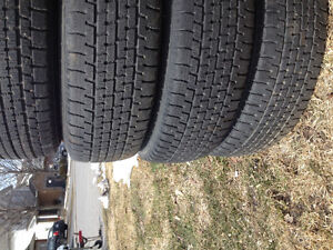 2 sets of tires on rims!! (can deliver)