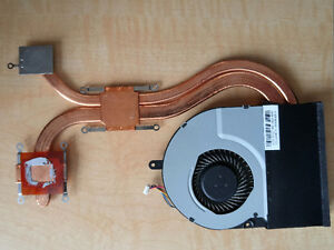 Heat Sink and fan for ASUS N56DP. Fan P/N: KSB070705HB