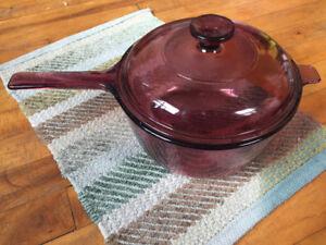 Corning Corningware 2.5 L glass casserole saucepan