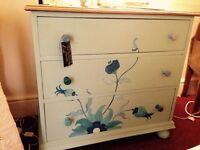Bespoke hand painted chest of drawes