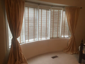 Silk curtains from Pottery Barn