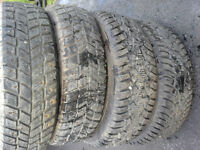 4 x 175/70r13 Winter Tires Studded