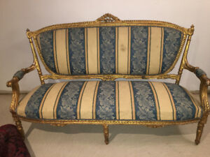 **** An ANTIQUE LOUIS XVI baby blue and gold ****