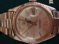 AUTHENTIC 18K.750 SOLID ROSE GOLD ROLEX PRESIDENTIAL MODEL 1803