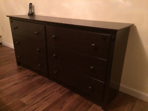 dark brown with 6 drawers chest