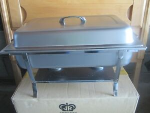 Shafer Tray Stainless Steel Rettangular New Set - Food Warmer