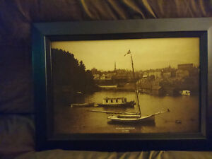 Framed picture of Nanaimo 19th century