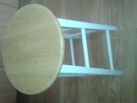 ikea wood stool