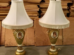 Side table lamps.