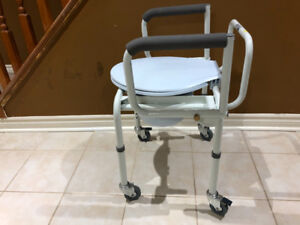 Portable Commode Chair with Wheels