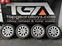 "16"" Genuine VW Seat Leon Alloy Wheels & BF GOODRICH WINTER Tyres 5F0601025A"