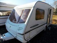 Abbey Freestyle 470 2004 Lightweight 2 Berth End Washroom Touring Caravan