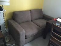 Sofa bed - brown suede