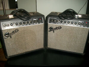 Pair of Squire Champ amps