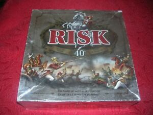 Risk 40th Anniversary Board Game-Collectors Edition-Metal Pieces