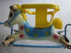 Baby or Child's Vintage Spring Riding Pony / Horse clear colours