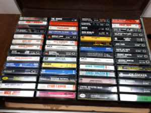 56 cassette tapes and case