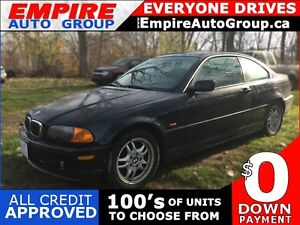 2001 BMW 3 SERIES 325CI * RWD * LEATHER * SUNROOF