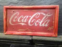 Coca Cola vintage advertising signs .