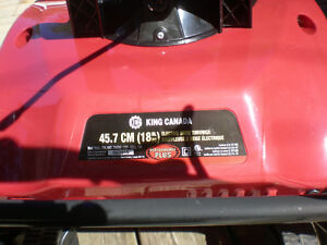 King Canada 18-inch Electric Snow Thrower Peterborough Peterborough Area image 3