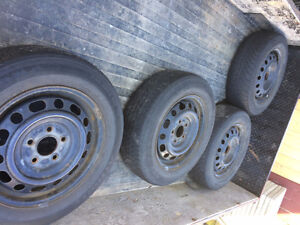 4 RIMS 5x114 pattern good condition