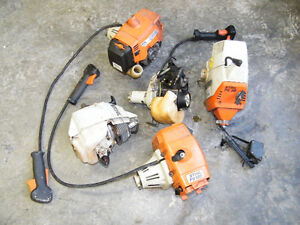 LOT OF FIVE STIHL WEED EATER ENGINES FOR PARTS