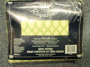 Drap Contour lit tres grand / KING SIZE FITTED SHEET