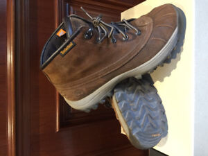 Men leather shoes Timberland winter boots Size 9