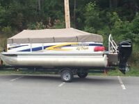 2010 princecraft pontoon with 40hp 4 stroke and trailer