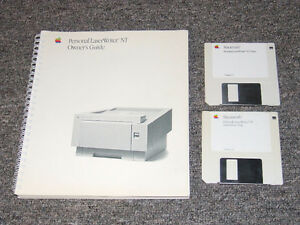 Apple Personal LaserWriter NT Owners Guide & Install Disc's $10 Belleville Belleville Area image 2