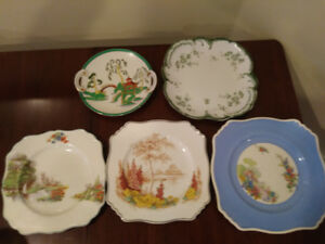 Assorted antique decorative china plates