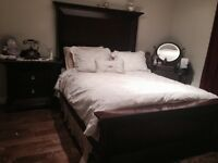 Gorgeous solid wood Penthouse Bed with Night Stand