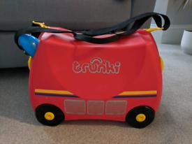 Fire Engine Trunki Suitcase Storage