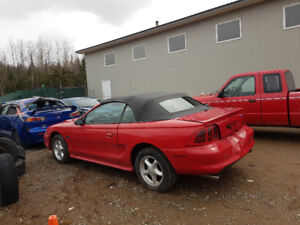 parting out 1996 mustang GT convertible