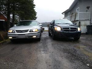Caliber SXT 2007 & Impala LS 2000