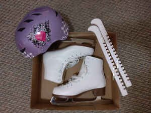 Figure Skates with helmet and guards