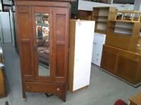 Vintage Wardrobe / Hallway Cupboard With Mirror -Can Deliver For £19