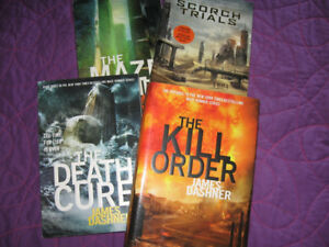 Maze Runner Series novels and two dvds