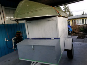 Camping / Fishing Trailer with boat and motors