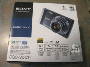 Sony Cyber-shot DSC-W370 14.1 MP Digital Camera - black