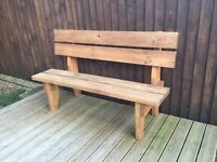SOLD - Pine bench- 5 foot - pressure treated pine