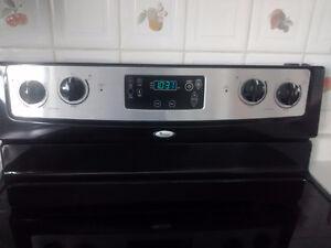 Moving sale Whirlpool smooth top steeliness steel stove Kitchener / Waterloo Kitchener Area image 3
