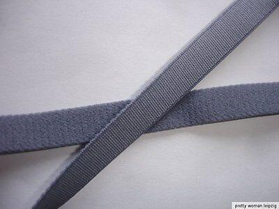 10m Gummiband 0,24€/m grau Trägerband 10mm breit  EE8