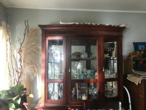 Upper Portion of China Cabinet